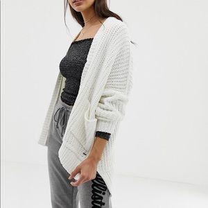 White Hollister Knit Cardigan
